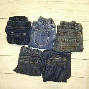 Lot of five 2T boy jeans